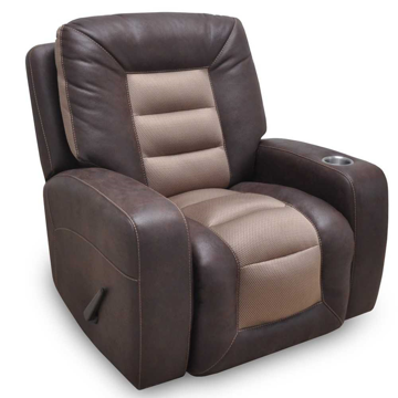 Picture of BRANSON 2 TONE BROWN RECLINER - 4576