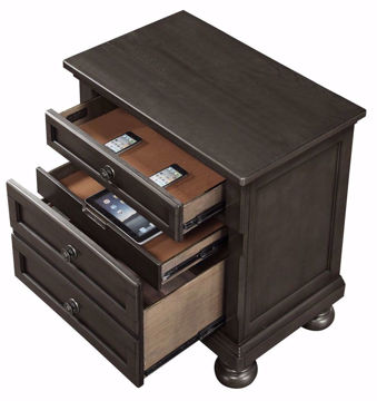 Picture of FRANKLIN GREY NIGHTSTAND - 1061