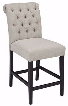 """Picture of TRIPTON 24"""" BEIGE COUNTER STOOL - D530"""