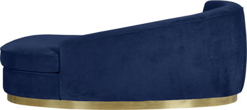 Julian Navy Velvet Chaise