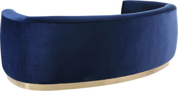 Julian Navy Velvet Sofa