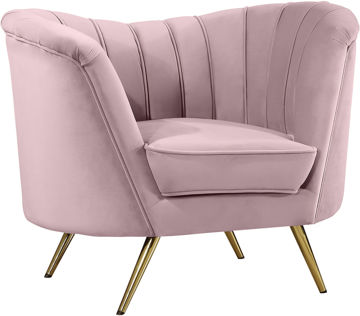 Margo Pink Velvet Chair