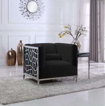 Opal Black Velvet Chair