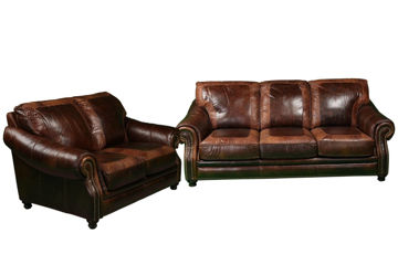 Picture of ARTIC CHESTNUT LEATHER LIVING - 4919
