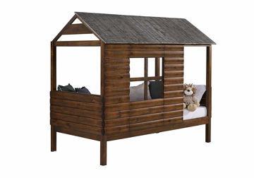 Picture of LOG CABIN TWIN LOFT BED - 2103