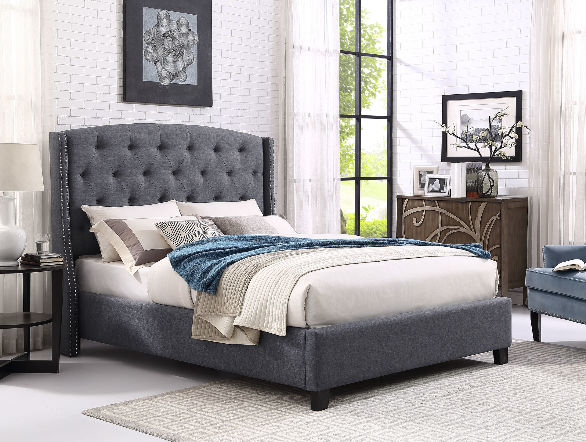 Picture of WEATHERLY GREY KING BED