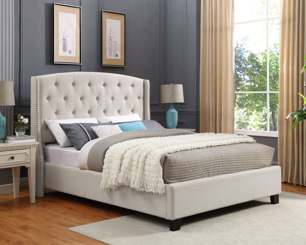 Picture of WEATHERLY IVORY QUEEN BED - 5111