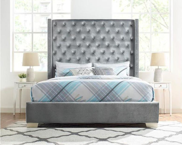 Picture of PARIS SILVER QUEEN BED - SH228