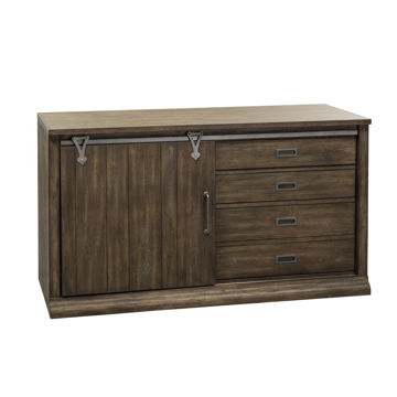 Picture of STONE BROOK CREDENZA & HUTCH - 466
