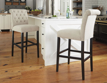 """Picture of TRIPTON 30"""" BEIGE BARSTOOL - D530"""
