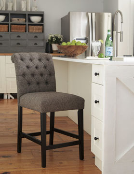"""Picture of TRIPTON 24"""" TAUPE COUNTER STOOL - D530"""