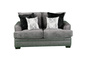 Picture of AKAN GRAPHITE LOVESEAT - 3650