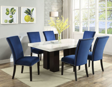 Picture of CARMEN VELVET DINING CHAIR - BLUE