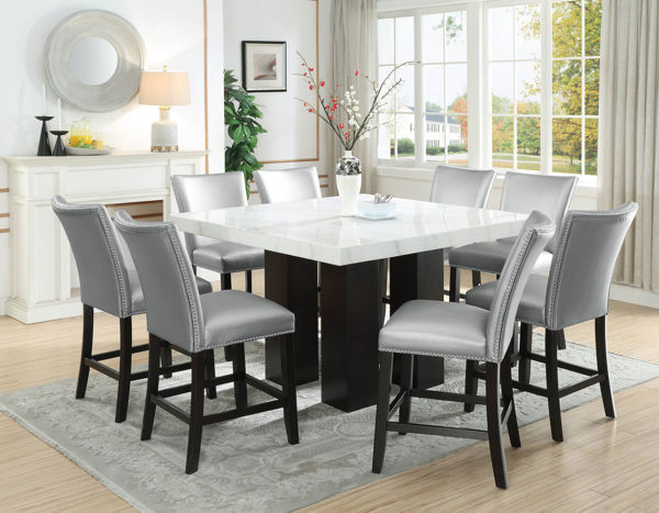 Picture of CARMEN PU COUNTER CHAIR - SILVER
