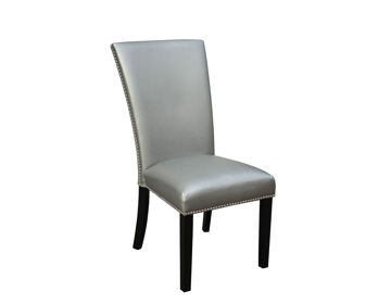 Picture of CARMEN PU DINING CHAIR - SILVER