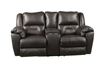 Picture of LATITUDE FOSSIL LEATHER RECLINING CONSOLE LOVESEAT - 751