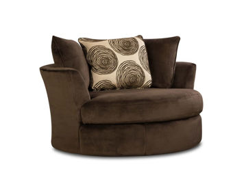 Picture of GROOVY CHOCOLATE SWIVEL CHAIR - 1025