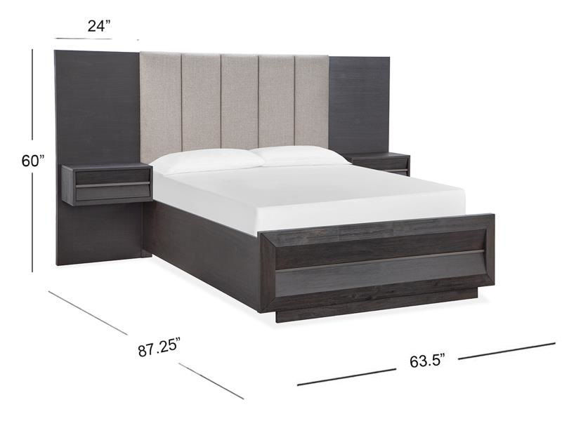 Picture of CITYSCAPES QUEEN WALL BED - B4995