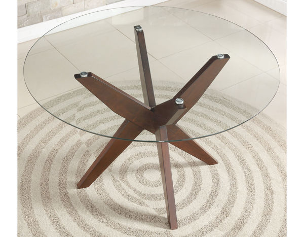 """Picture of JULES 48"""" ROUND GLASS TOP TABLE"""