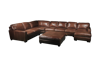 Picture of BECHAM CHESTNUT 4PC LEATHER SECTIONAL - 4522