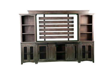 Picture of INDSUTRIAL BARNWOOD ENTERTAINMENT CENTER- 1035
