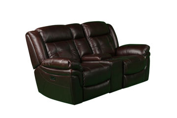 Picture of GENESIS POWER LEATHER RECLINING LOVESEAT - 5700