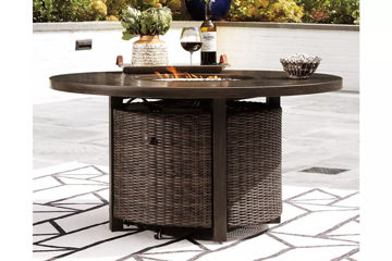 Picture of TRENTON ROUND FIRE PIT TABLE - P750