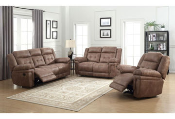 Picture of ANASTASIA COCOA RECLINING SOFA - AT850