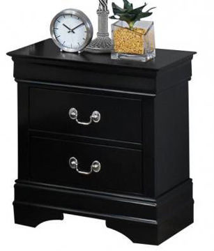 Picture of LOUIS PHILIP BLACK NIGHTSTAND - B3900