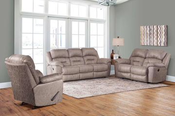 Picture of MORRISON STONE MANUAL RECLINING LOVESEAT - F773