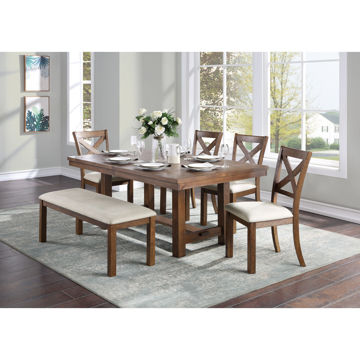 Picture of GEORGIA 6PC DINING SET W BENCH