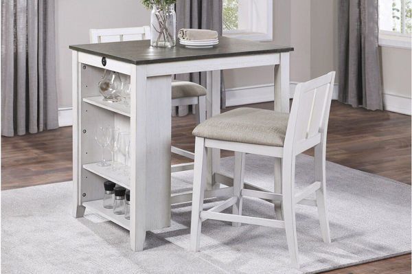Picture of TIMBER 3PK COUNTER SET - WHITE
