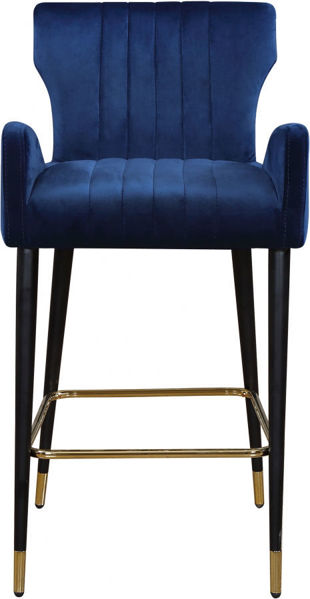 Picture of LUXE NAVY VELVET COUNTER STOOL - 792