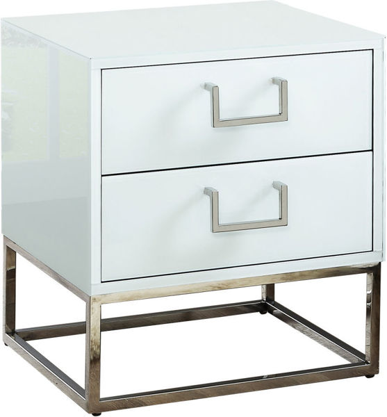 Picture of NOVA WHITE SIDE TABLE - 818