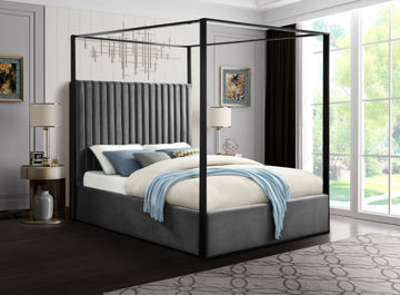 Picture of JAX GREY KING CANOPY BED