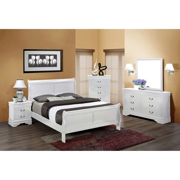 Picture of LOUIS PHILIP WHITE FULL BED - B3600