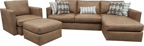 Picture of PALANCE BROWN SMALL OTTOMAN - S298