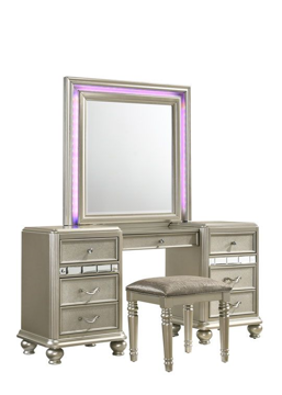 Picture of HOLLYWOOD GLAMOUR VANITY STOOL - B846