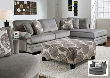Picture of GROOVY GREY SECTIONAL - 1025