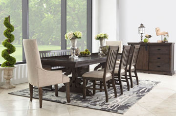 "Picture of MORRISON 112"" 6PC RECTANGLE DINING SET - DST100"