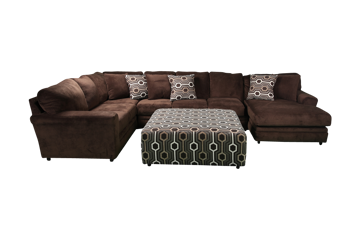Picture of KEYWEST CHOCOLATE ACCENT OTTOMAN - 805