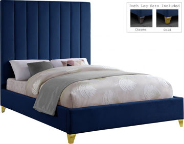 Picture of VIA VELVET NAVY QUEEN BED - 336
