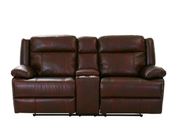Picture of BRIGGS BURGUNDY POWER RECLINING CONSOLE LOVESEAT - 023B