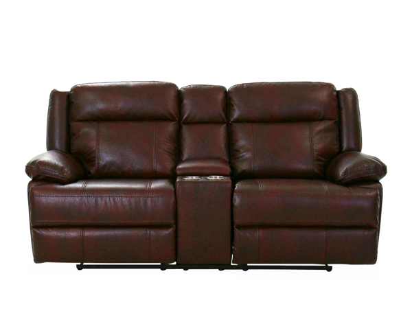 Picture of BRIGGS BURGUNDY MANUAL RECLINING CONSOLE LOVESEAT - 023B