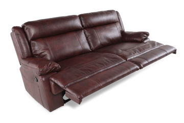 Picture of BRIGGS BURGUNDY MANUAL RECLINING SOFA - 023B