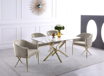 Picture of XAVIER GOLD / CREAM 5PC DINING SET - 902
