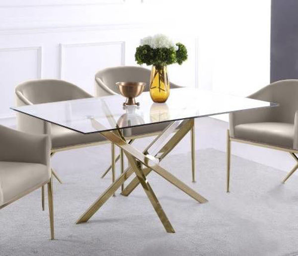 Picture of XAVIER GOLD DINING TABLE - 902