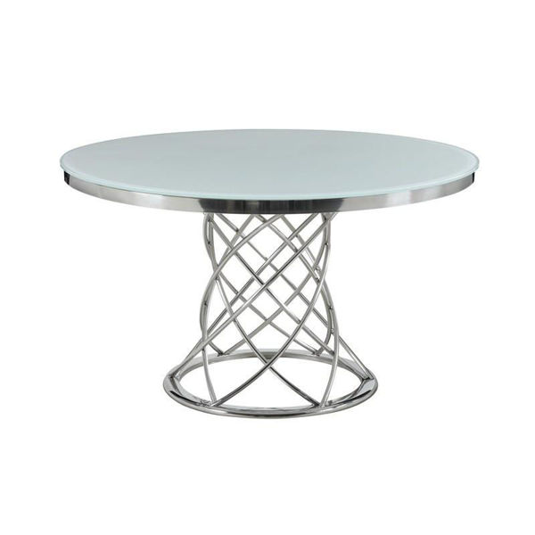 """Picture of MELROSE 51"""" GLASS ROUND TABLE - 11040"""