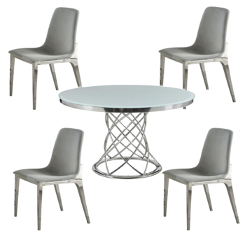 Picture of MELROSE 5PC ROUND DINING SET - 11040