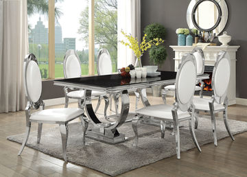 Picture of ANTOINE 7PC DINING SET- CHROME - 10787